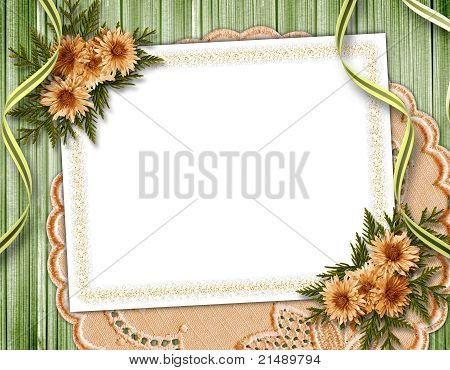 Vintage Summer Framework For Invitation Or Congratulation.