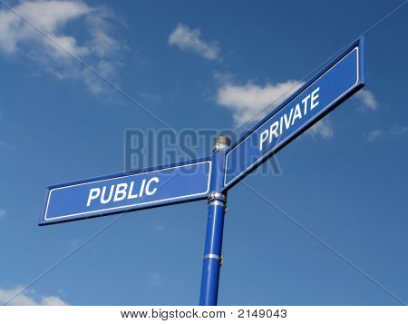 Public And Private Signpost