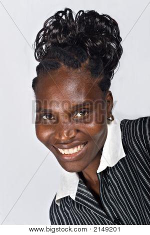 Mujer de retrato africana