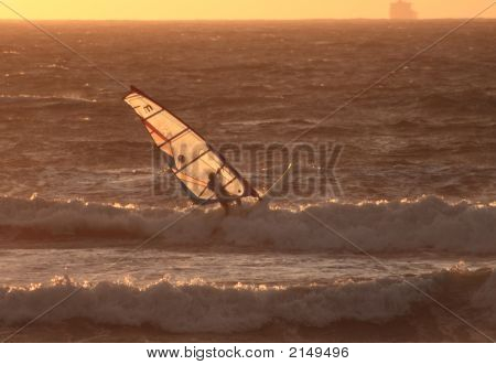 Sunset Windsurfer