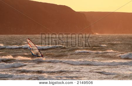 Sunset Windsurfer