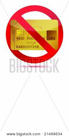 No credit or credit cards not allowed illustration design