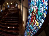 foto of stained glass  - A photograph of a stained glass window - JPG