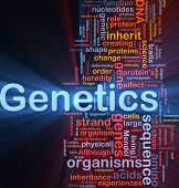 picture of genes  - Background concept wordcloud illustration of genetics dna genes glowing light - JPG