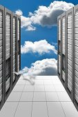 image of mainframe  - A Conceptual vision of a Datacenter on the cloud  - JPG
