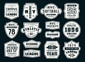 Set Of Emblems And Patches In Sport Style poster