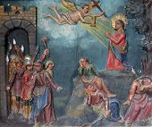 foto of gethsemane  - Jesus prays while the disciples sleep - JPG