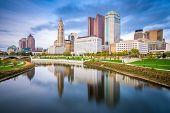 Columbus, Ohio, USA skyline on the Scioto River. poster