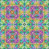 Colorful Modern Floral Pattern poster