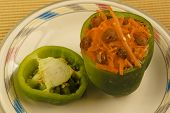 Bell Pepper Stuffed With Carrot Salad poster