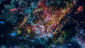 Cosmic Art, Science Fiction Wallpaper. Elements Of This Image Furnished By Nasa. poster