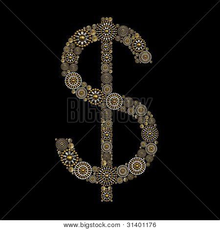 Dollar Sign jewelry ornament concept