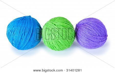 Three Colored Woolen Balls