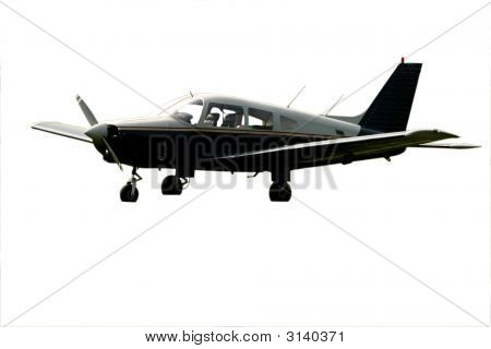 Single Engine Grounded Isolated Black Plane