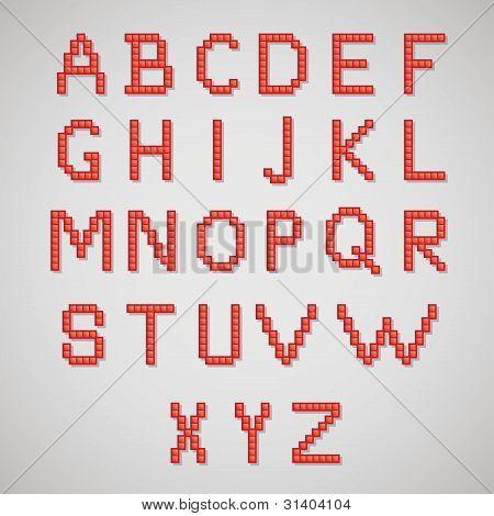 Pixel art alphabet