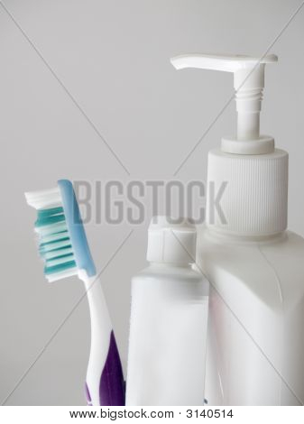 tooth paste brush and lotion