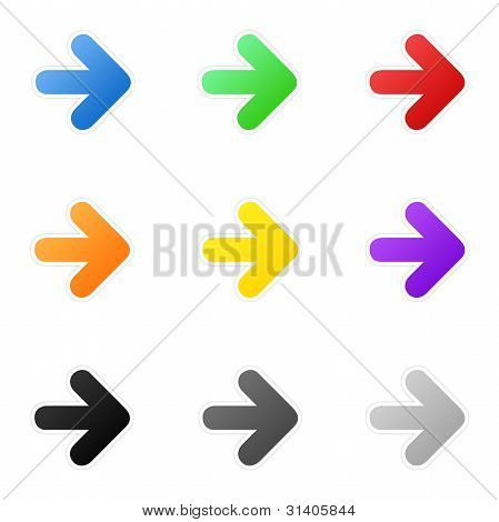 Colorful arrows
