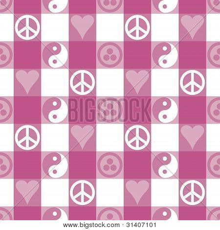 Peace Plaid_Pink