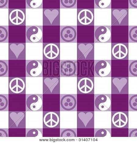 Peace Plaid_Purple
