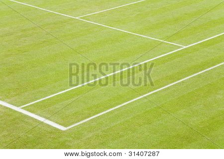 Grass Tennis Court