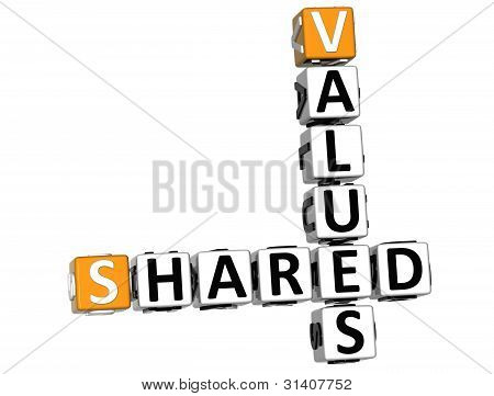 3D Sharing Values Crossword Cube