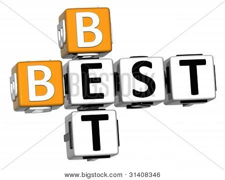 3D Best Bet Crossword