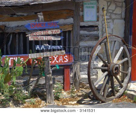 Signpost At Entrance