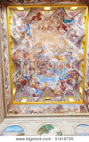 Painting In Castle Escorial Near Madrid Spain