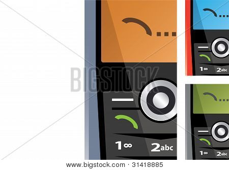 Vector Set Of Calling Phones