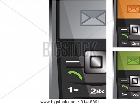 Vector Set Of Phones With Sms
