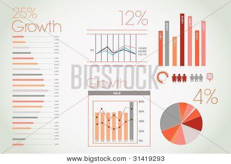 Orange infographic with elements