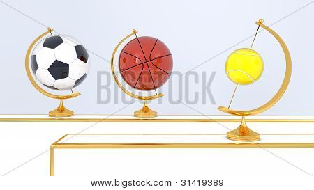 Abstract Sport Balls Background