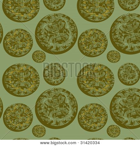 Seamless Background With Original Circles