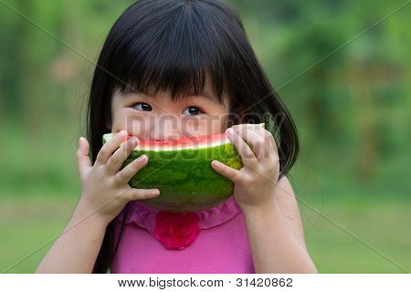 Happy Child With Watermelon