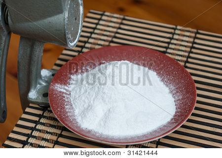 Grinding Of Sugar To The Powder.