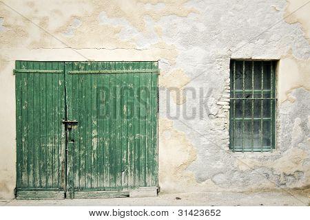 Old Wooden Door Wall Background
