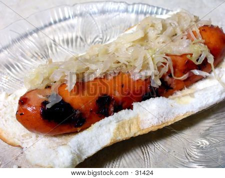 Hot Dog And Kraut