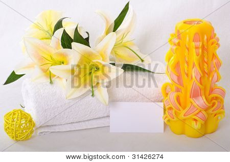 Spa Theme With Business Card