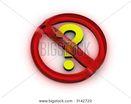 Stop Question Sign