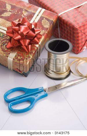 Envoltura de regalo para las fiestas