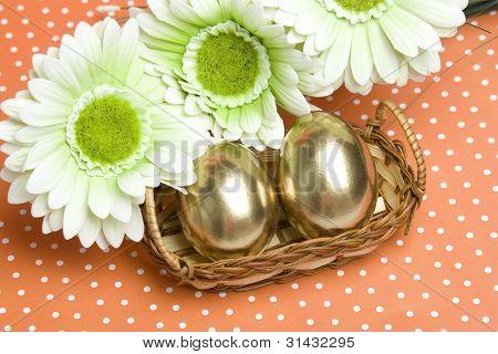 Easter golden eggs