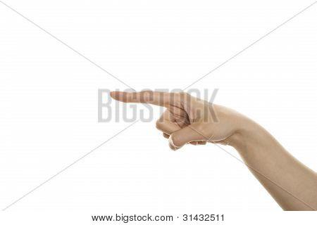Geste zeigt