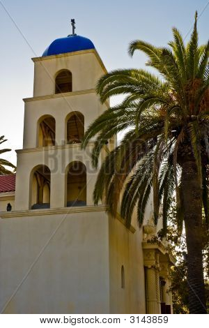Church Steeple In San Diego Old Town