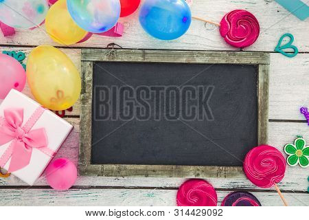 poster of Birthday Background. Birthday Celebration With Copy Space. Birthday Greeting Card