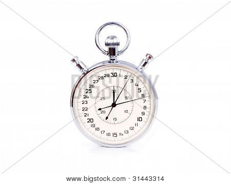 Big Stopwatch Isolated On White