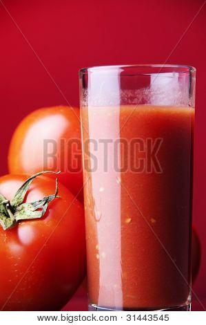 Tomato juice and plants