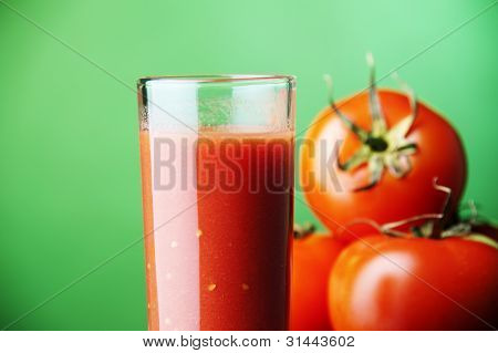 Tomato juice and plants