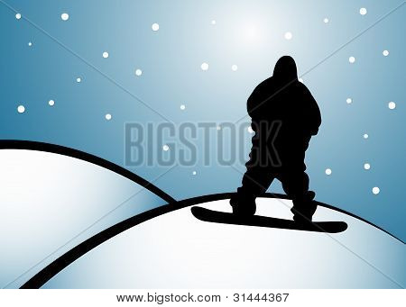 Snoboarding