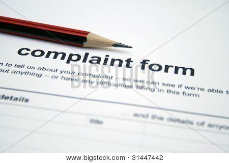 Formulario de queja
