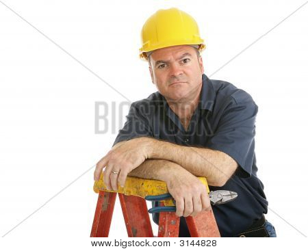 Construction Worker Disgruntled